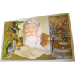 """Best Christmas Wishes"" Santa Christmas Post Card"
