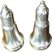 Nice Pair of Vintage Sterling Silver Salt and Pepper Shakers by Duchin