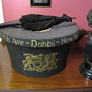 Fabulous Antique Dobbs of New York Hat Box