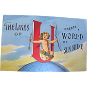 1910 &quot;The Likes of U Create a World of Sun Shine&quot; Postcard&#8207;
