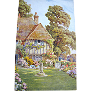 1885, An English House & Garden, Postcard Published by J Salmon, 1885&#8207;