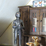 SALE Great Cast Metal Suit of Armor for the Most Imposing Doll House