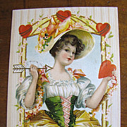 1910 &quot;To My Valentine&quot; Embossed Postcard Printed in Germany&#8207;