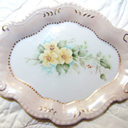 Pretty Little Vintage Hand Painted Trinket Tray