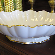 Lovely Lenox Gold Scalloped Footed Symphony Centerpiece Bowl