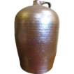 Large 3 Gal. Mid 19th Century Edgefield Pottery Jug Alkaline Glazed.&#8207;