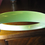 SALE Super Peking Glass Bangle, Faux Jade, Very Convincing!