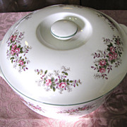 Lidded Bakeware Casserole in Lavender Rose Pattern by Royal Albert