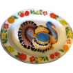 1950's Tole Turkey Platter, Display or Thanksgiving?