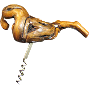 Super Large Hand Made Burl Wood Cork Screw