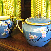 Super Art Deco Noritake Creamer and Sugar, Great Period Design
