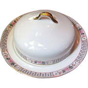 Charles Ahrenfeldt French Limoges 3 Piece Butter Dish, Roses!