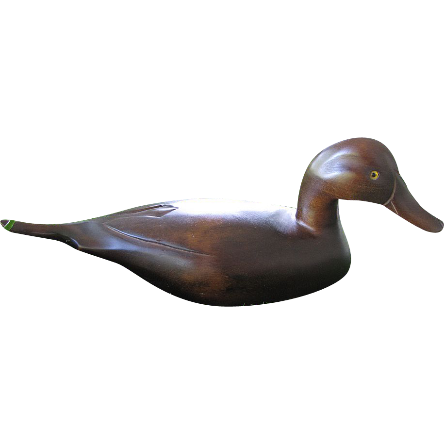 Beautiful Vintage Carved Wooden Pintail Decoy Duck Glass Eyes From Faywrayantiques On Ruby Lane