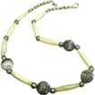 Lovely Vintage Carved Bone Tribal Necklace