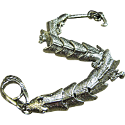 Cool Articulated Silver-tone Reptile Bracelet with Attitude!