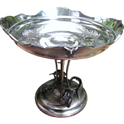Superb Antique Meriden Quadruple Silver Plated Center Piece Bowl