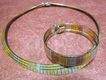 Elegant Vintage Sterling Silver Italian Necklace and Bracelet Suite