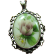 Sweetest Little Sterling Pendant with Romantic Hearts & Roses!