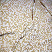 "Beautiful & Luxuriant 160"" Bolt End of Fully Woven Cream & Gold Brocade"