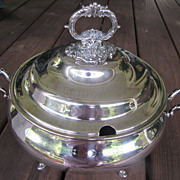 Large Wallace Baroque Silver Soup Tureen, Very Ornate with Handles