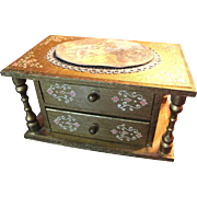 Charming Gilt Musical Chest of Drawers, Perfect for Fashion Dolls