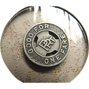 "Pair of Vintage Philadelphia Railroad Company ""Good for One Fare"" Tokens‏"