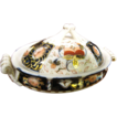 Beautiful Hand Painted and Gilt Doll Tureen with Lid Occupied Japan