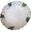 Beautiful Finest Porcelain Hand Painted Variegated Edge Victorian Bowl
