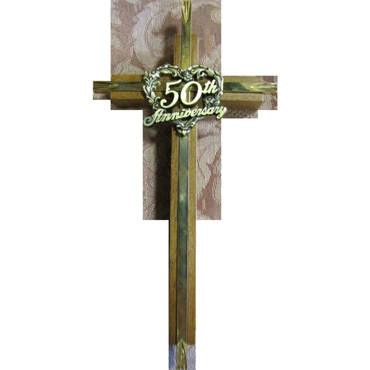 50th anniversary wall crucifix lovely christian wedding