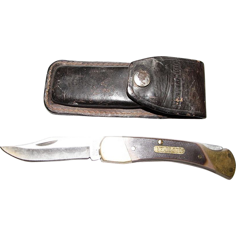 Vintage Schrade Usa 70t Old Timer Pocket Knife And Original Leather From Faywrayantiques On Ruby