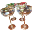 Set of  4 German Christopher Stuart Talia Blown Champagne Glasses