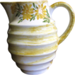 Pretty Yellow Floral 6&quot;  Cash Family Pottery Pitcher