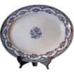 "Beautiful Large 16"" Early Staffordshire Blue Transferware Platter"