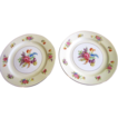 Pair of Salad Plates in the Noritake Queen Anne Pattern