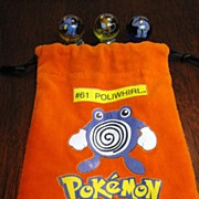 SALE Pokemon Marble Bag with 11 Pokemon Marbles