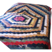 Antique Silk Patchwork Quilt, Beautiful, Rare, Fragile!