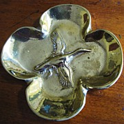 Hand Forged Virgina Metal Crafters Brass Dish or Trinket Tray
