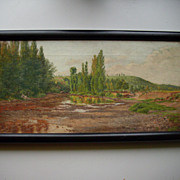 Southern France landscape painting danish artist late 19th century