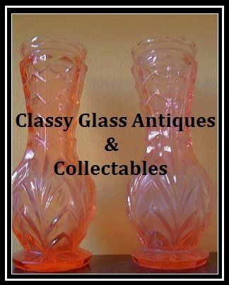 Delightful Pair of 1930's Art Deco Pink Glass Vases