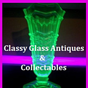 Sowerby 1930s Art Deco Uranium Green Glass Vase