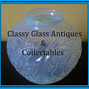 SALE PENDING Original French 1930s Art Deco Opalescent Glass Vase. Superb Throughout!