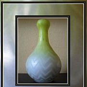 Mother of Pearl Satin Glass Vase by Thomas Webb, England. Circa 1900.