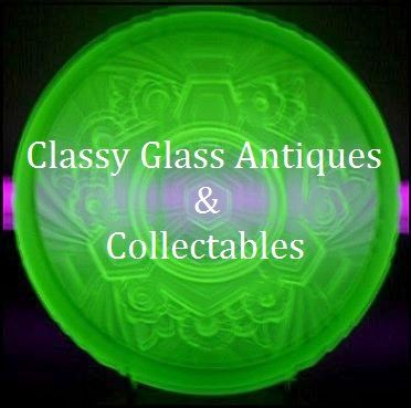 Fabulous 1930's Art Deco Uranium Green Glass Bowl by Jobling, England.