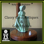 Enchanting Art Deco English Oak & Ceramic Figurative Table Lamp Base