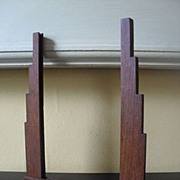 SALE PENDING FAB 1930's English Art Deco Large Oak Wood Picture Photo Frame.
