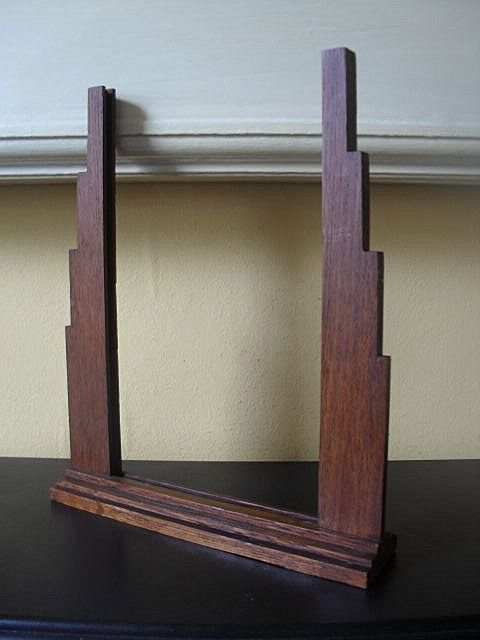 FAB 1930's English Art Deco Large Oak Wood Picture Photo Frame.