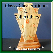 SOLD FABULOUS English Art Deco Pottery Vase Circa 1930's.
