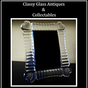 Irish Waterford Crystal Photo Picture Frame.