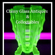 "SOLD Uranium Green Glass ""Bamboo"" Pattern Vase by Bagley. Astounding!"