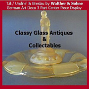 SALE Amazing Amber Glass Center Piece Lilli / Undine & Breslau by Walther & Sohhne,Germany.
